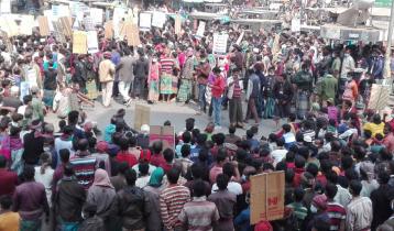 চুয়াডাঙ্গায় ইটভাট মালিক শ্রমিকদের মানববন্ধন