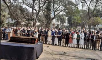 প্রেসক্লাবে সাংবাদিক মিজানুর রহমান খানের জানাজা