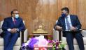 স্থানীয় সরকার মন্ত্রীর সঙ্গে ভারতীয় হাইকমিশনারের সাক্ষাৎ