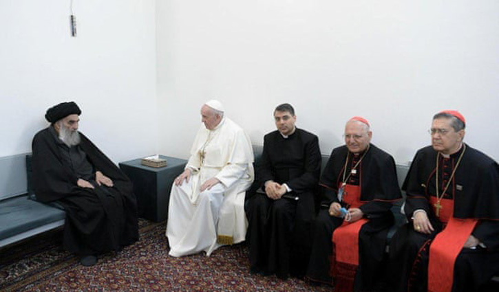 Pope Francis meets Iraq`s top Shia cleric Sistani