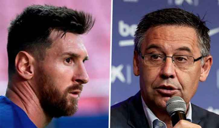 Barca president does not want to argue with Messi