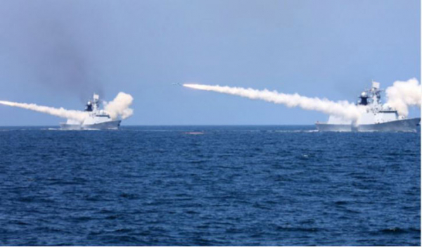 China fires two missiles