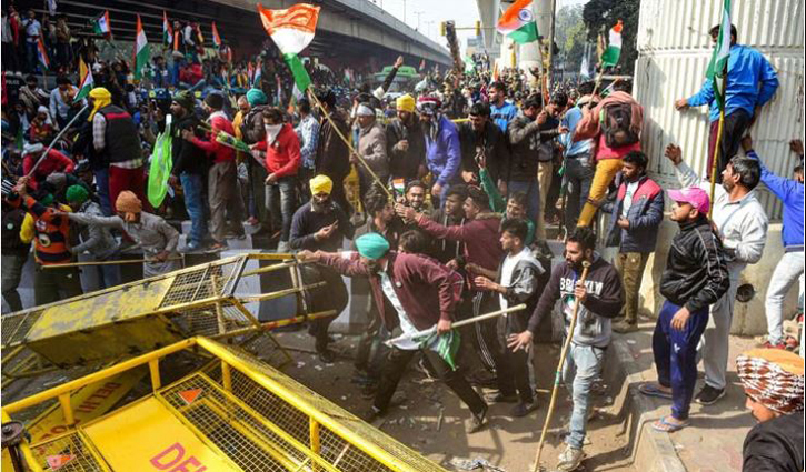 Farmers, police clash in Delhi