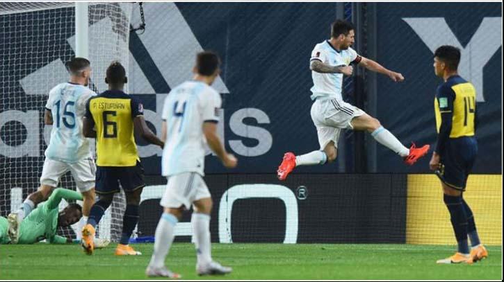 Messi scores as Argentina win 1-0 vs. Ecuador
