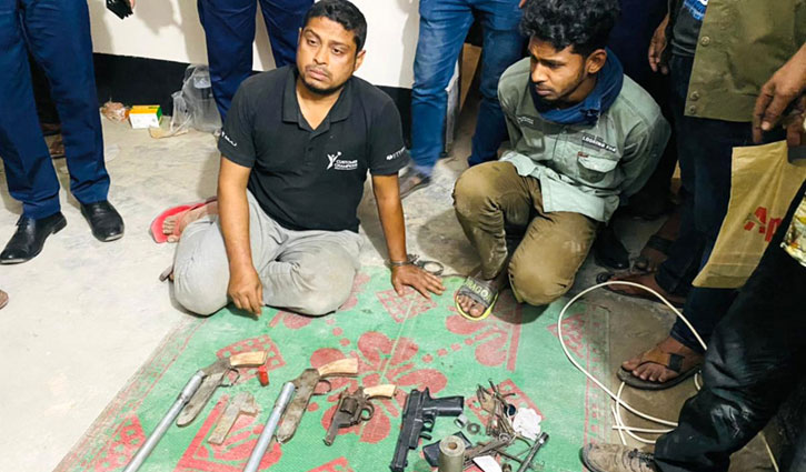 Raid in Pabna arms factory, 2 arrested with firearms