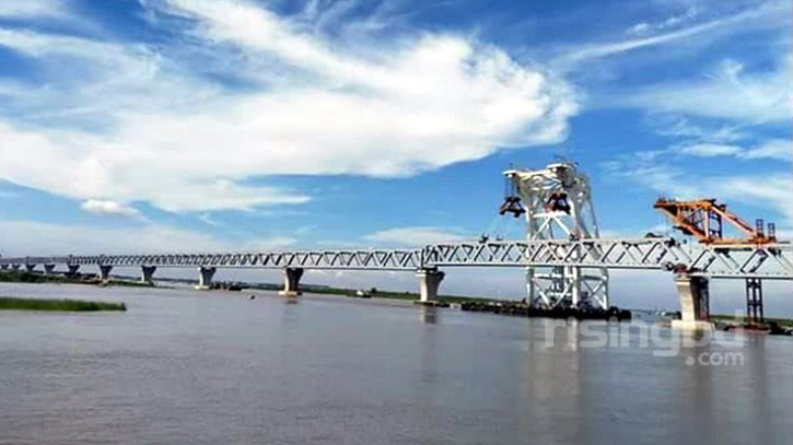 5,100 metres of Padma Bridge visible after installation of 34th span