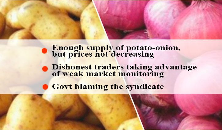 When prices of potato-onion to reach low-income people?