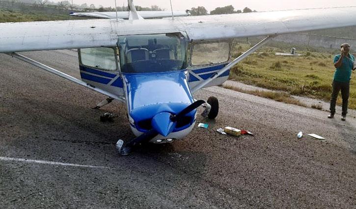 Training aircraft crashes in Rajshahi