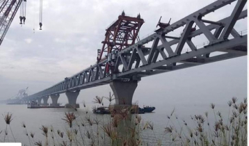 40th span of Padma Bridge installed, 6 kilometers become visible