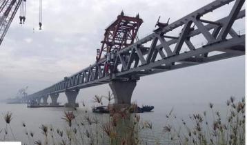 40th span of Padma Bridge installed, 6 kilometers become visible