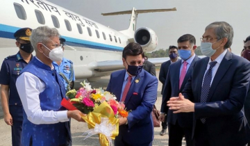 Indian External Affairs Minister Jaishankar arrives in Dhaka