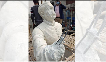 Bangabandhu`s sculpture vandalized in Kushtia