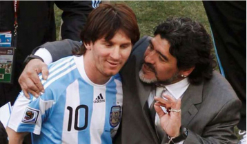 Messi mourns Maradona's death