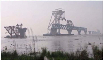 5 km of Padma Bridge now visible