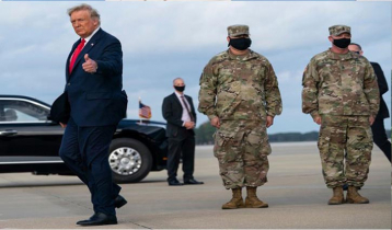 Military will not say respected goodbye to Trump