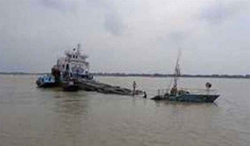 Coal-laden cargo sinks in Pashur Channel of Mongla Port