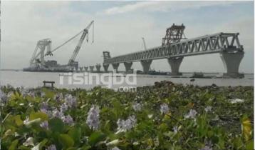35th span of Padma Bridge installed, 5,250 meters visible