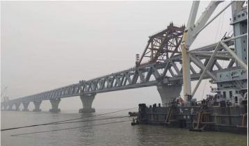 39th span of Padma Bridge installed, 5,850 meters become visible