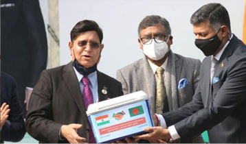 India hands over Covid-19 vaccine to Bangladesh