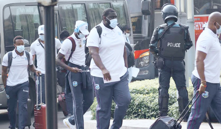Bangladesh and Windies teams arrive in Chattogram