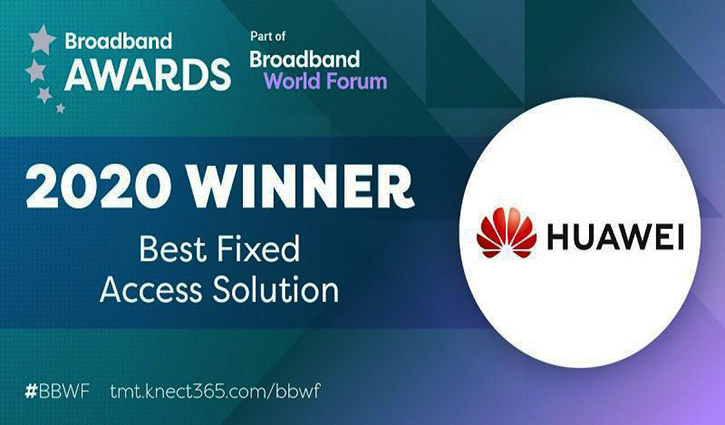 Huawei achieved best fixed access solution at BBWF 2020