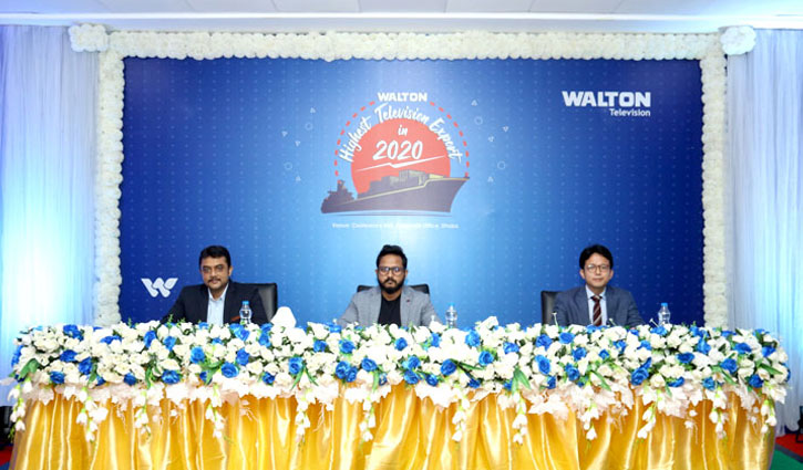 Walton TV records 10 times higher export in 2020 amidst pandemic