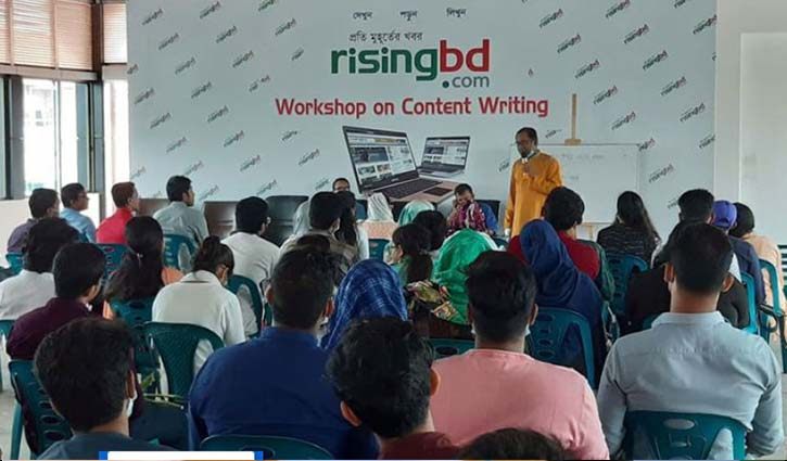 Workshop on content writing at risingbd