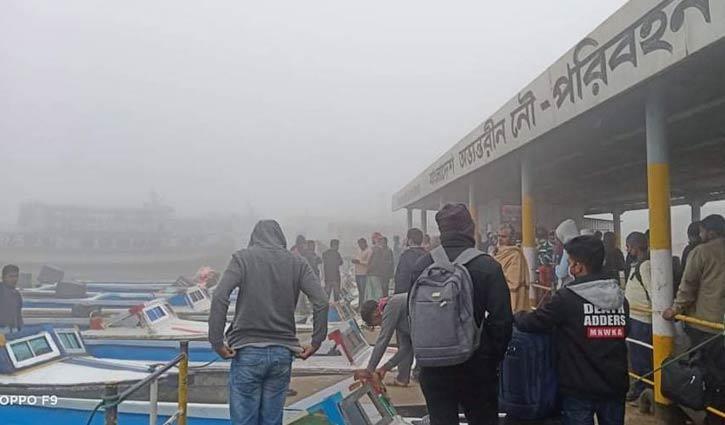 বাংলাবাজার-শিমুলিয়া নৌরুটে যান চলাচল বন্ধ