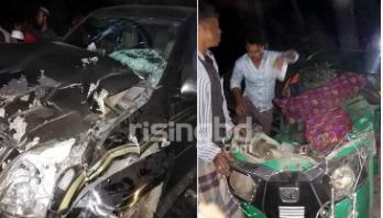 Private car-CNG auto-rickshaw clash kills 4