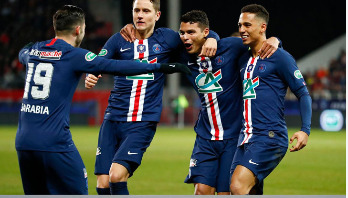 PSG into French Cup semi-finals
