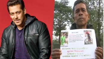 Man travels 600km on cycle to meet Salman Khan