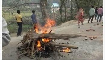 RMG workers stage demo blocking road in Savar