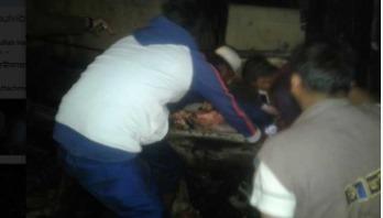 মৌলভীবাজারে আগুনে ঘর পুড়ে ছাই