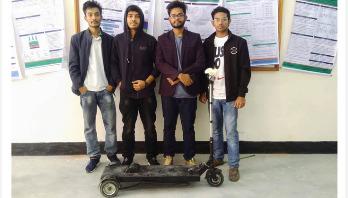 সৌরচালিত স্কুটার তৈরি করেছে যবিপ্রবির শিক্ষার্থীরা