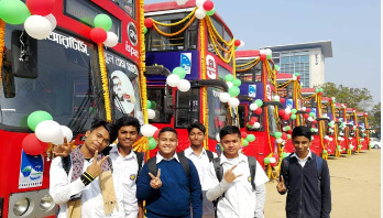Ctg students get 10 double-decker buses