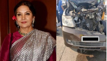 Shabana injured in road crash