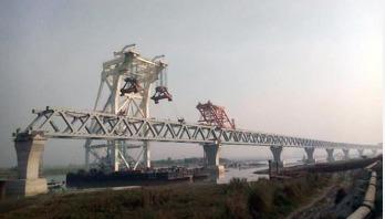 21th span of Padma Bridge installed