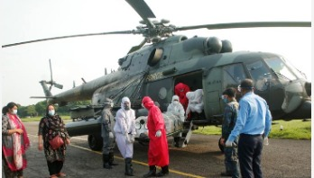 Doctor infected with coronavirus airlifted to Dhaka