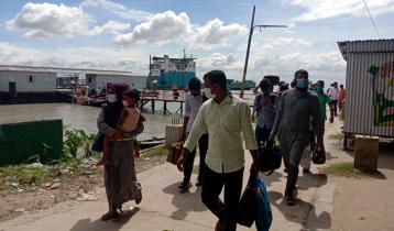 দৌলতদিয়া-পাটুরিয়া নৌরুটে যাত্রীদের চাপ বেড়েছে