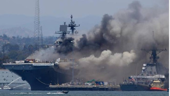 21 injured as fire erupts on US navy ship