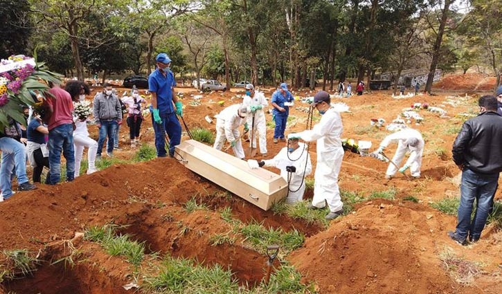 Brazil's Covid-19 death toll exceeds 72,000
