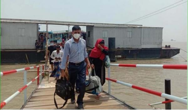People returning to Dhaka, pressure on Daulatdia Ghat