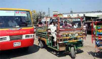 Barishal Bus services resume after two hours