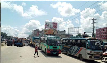 20km tailback on Dhaka-Aricha highway