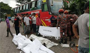 Bus-private car collision kills 5 in Sylhet