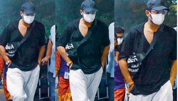 Prabhas snapped in a mask