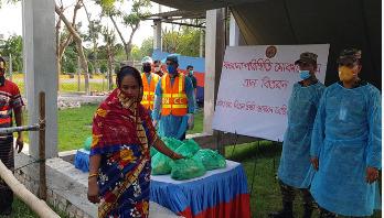 করোনা প্রতিরোধে কাজ করছে বিএনসিসি সুন্দরবন রেজিমেন্ট