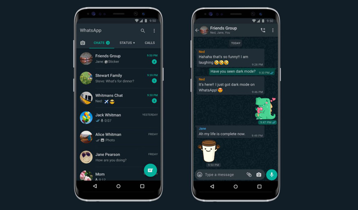 WhatsApp dark mode feature launched