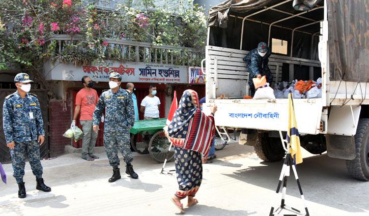 করোনা মোকবিলায় উপকূলীয় জেলাগুলোতে নৌবাহিনীর কাজ শুরু