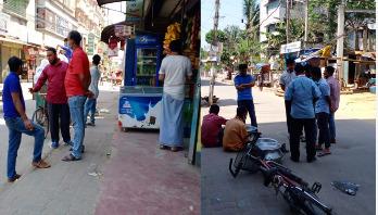 'প্রধান সড়কে নয়, মহল্লার রাস্তায় ঘুরছে মানুষ'